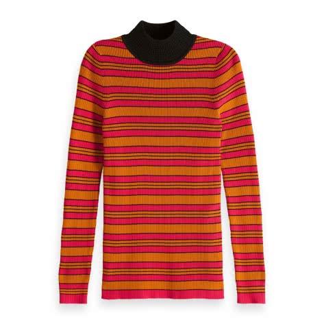 Maison Scotch Damen Pullover Fitted Rib Knit 151294