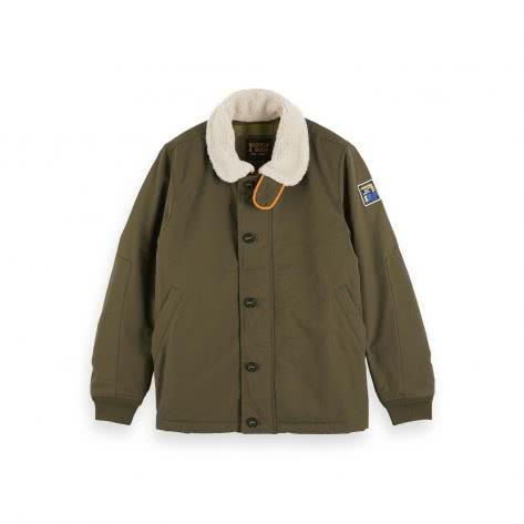 Scotch & Soda Herren Jacke short teddy collar jacket 152000