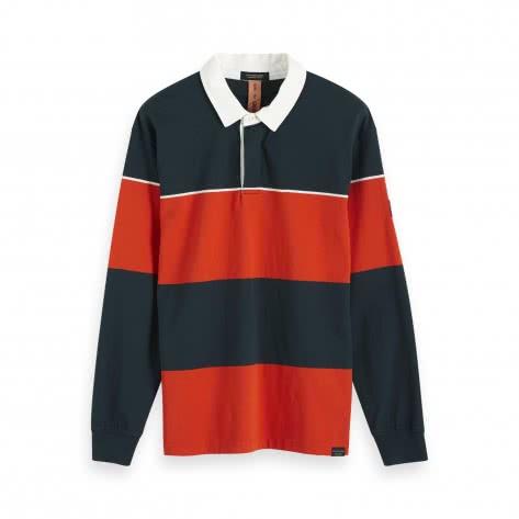 Scotch & Soda Herren Polo Longsleeve Rugby Polo 152337-0218 L Combo B | L