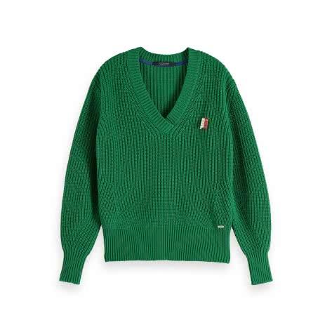 Maison Scotch Damen Grobstrickpullover Chunky Cotton Pull 152437-2919 L Seaglass Green | L