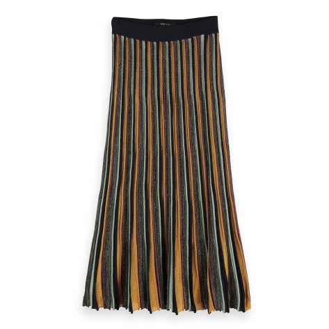 Maison Scotch Damen Faltenrock pleated multicolour lurex stripe 152603