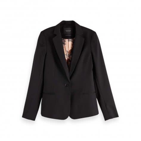 Maison Scotch Damen Blazer Classic Tailored 152713-08 L Black | L