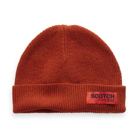 Scotch & Soda Herren Mütze Classic Rib Knit Beanie 152876-3188 One size Chili pepper | One size