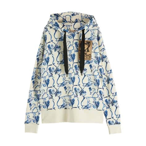 Maison Scotch Damen Hoodie Allover Printed 153432