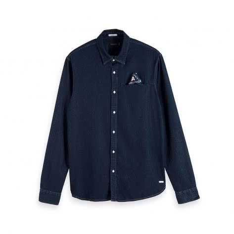 Scotch & Soda Herren Hemd Indigo Pocket Shirt 153550