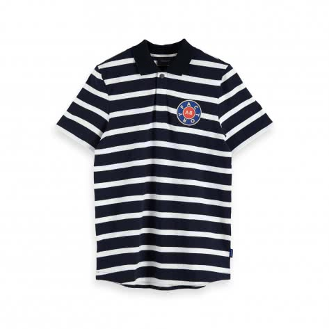 Scotch & Soda Herren Poloshirt Stripe Nylon Collar 153630