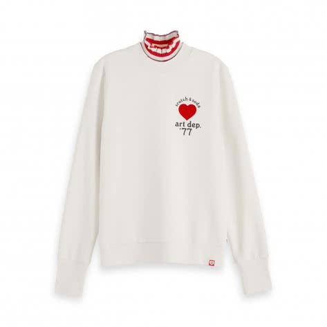 Maison Scotch Damen Sweatshirt Special Collar and Artworks 153780