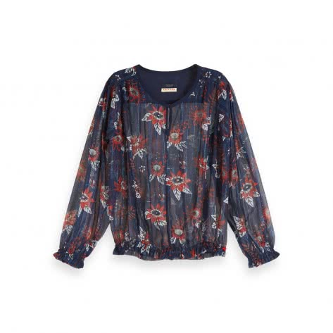 Maison Scotch Damen Bluse Drapey Top 153821