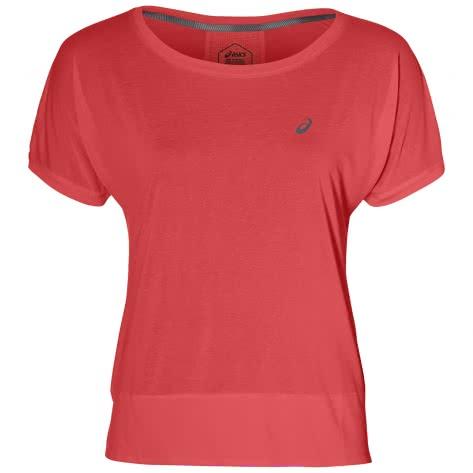 Asics Damen Laufshirt CROP TOP 154537-701 XS FLASH CORAL | XS