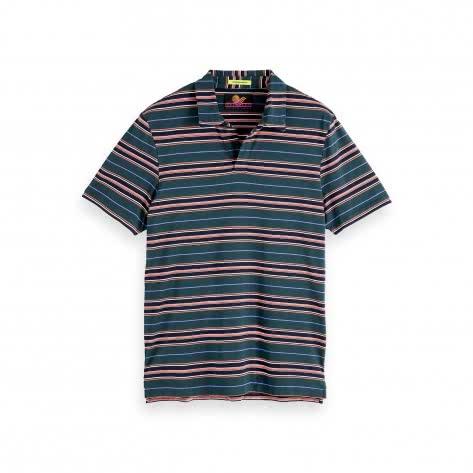 Scotch & Soda Herren Mercerized Jersey Poloshirt   155467