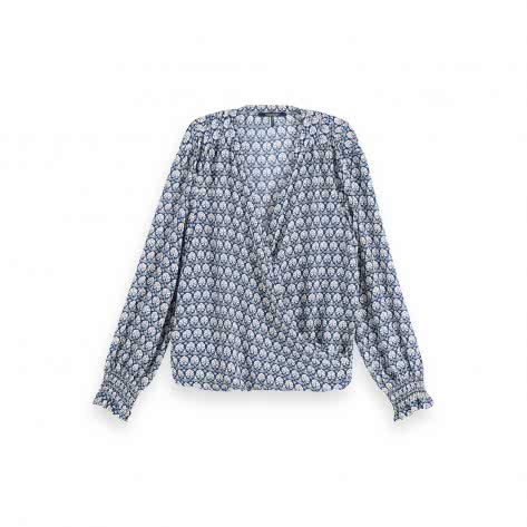 Maison Scotch Damen Bluse Wrap-Over Top 155912