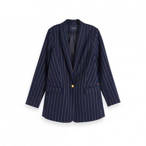 Maison Scotch Damen Blazer Yarn Dyed Pinstripe 156508