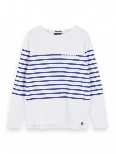 Scotch & Soda Herren Langarmshirt Breton Stripes Shirt 156799