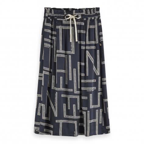 Maison Scotch Damen Maxirock Viscose Skirt 157007