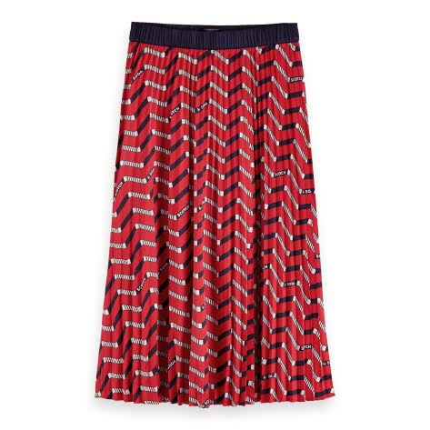 Maison Scotch Damen Rock Allover Print Plisse Skirt 157009