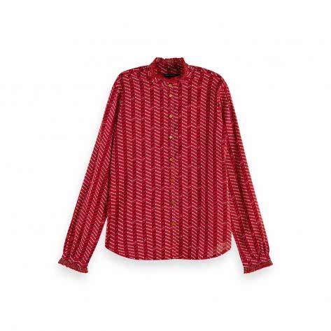 Maison Scotch Damen Bluse Cotton Allover Printed Shirt 157018