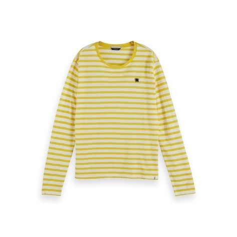 Maison Scotch Damen Langarmshirt Organic Easy Long Sleeve 157060