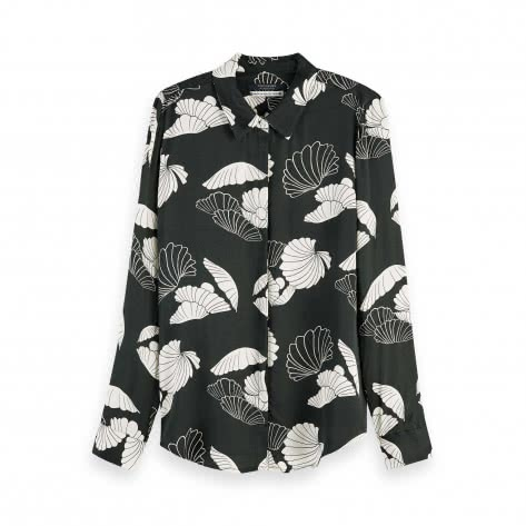 Maison Scotch Damen Bluse Seasonal Pattern Drapey Shirt 157368