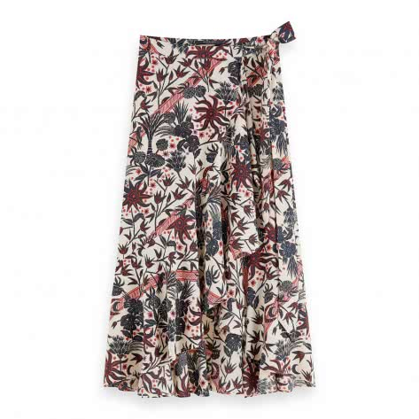 Maison Scotch Damen Midirock Wrap Skirt 159334