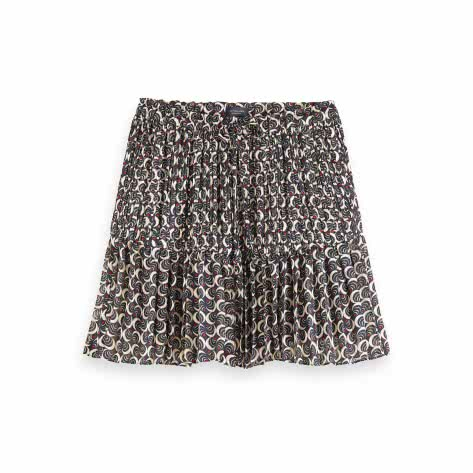 Maison Scotch Damen Rock Allover Printed Ruffle Skirt 159413