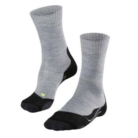 Falke Trekking Socken TK2 16474 light grey Größe: 39-41,42-43,44-45,46-48