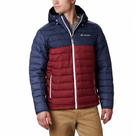 Columbia Herren Outdoorjacke Powder Lite Hooded Jacket 1693931-665 XXL Red Jasper, Collegiate Navy | XXL