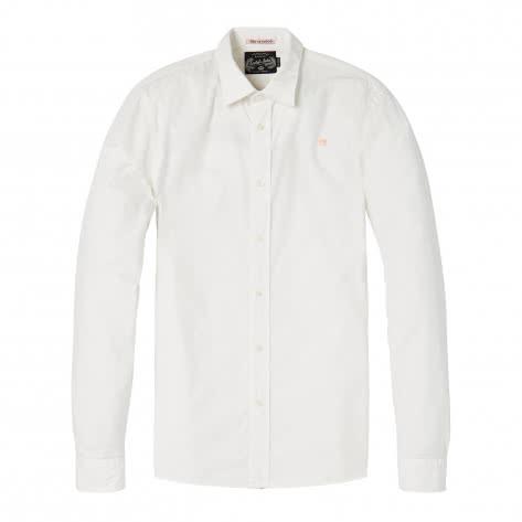 Scotch & Soda Herren Langarmhemd Classic Crispy Shirt 142477-0006 L White | L