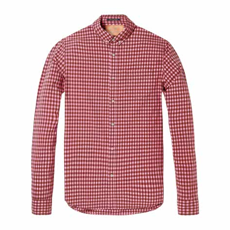 Scotch & Soda Herren Langarmhemd Classic BB Check Shirt 142534-0217 L Combo A | L