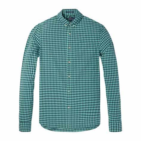 Scotch & Soda Herren Langarmhemd Classic BB Check Shirt 142534-0218 L Combo B   L