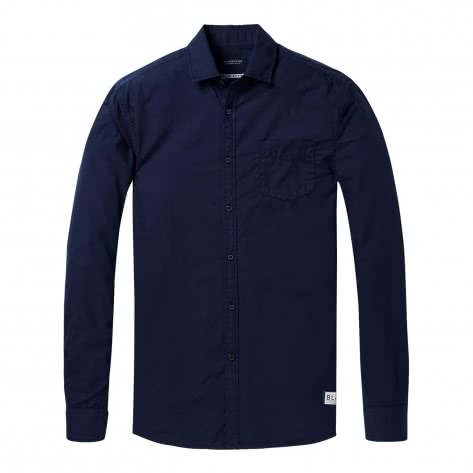 Scotch & Soda Herren Langarmhemd Ams Blauw Shirt 144152