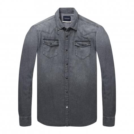 Scotch & Soda Herren Langarmhemd Ams Blauw Western Shirt 144171