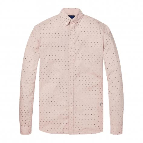 Scotch & Soda Herren Langarmhemd Ams Blauw Slim Shirt 147424-20 L Combo D | L
