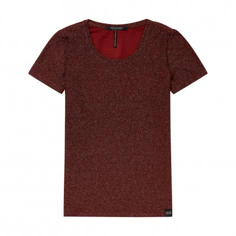 Maison Scotch Damen T-Shirt Short Sleeve Lurex Tee 147511