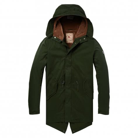 Scotch & Soda Herren Parka Classic Hooded Parka 145193-0548 XL Pine | XL