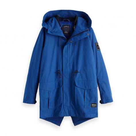 Scotch & Soda Herren Parka Ams Blauw Parka Jacket 147811