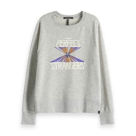 Maison Scotch Damen Pullover Relaxed Fit Sweat 150107-0A XS Grey Melange | XS