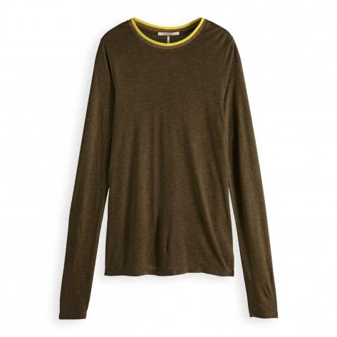 Maison Scotch Damen Langarmshirt Long Sleeve Lurex Tee 150145