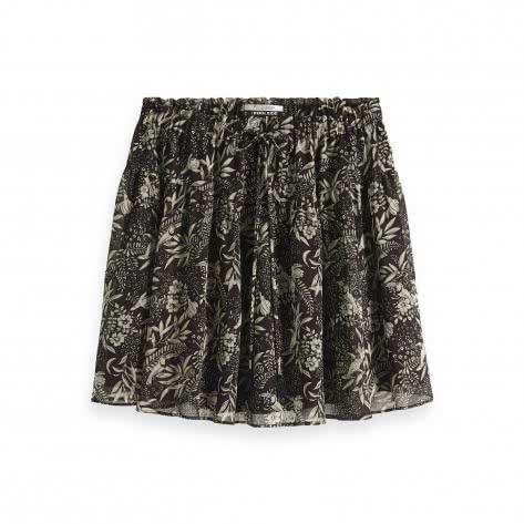 Maison Scotch Damen Rock Printed Flowy Mini Skirt 149937