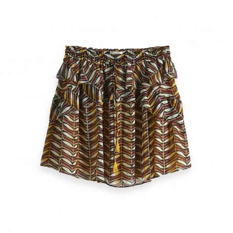 Maison Scotch Damen Rock Printed Skirt with Ruffles 149921