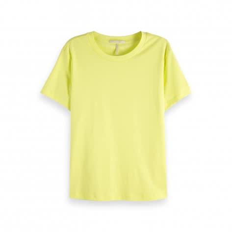 Maison Scotch Damen T-Shirt Basic Mercerized Tee 150157
