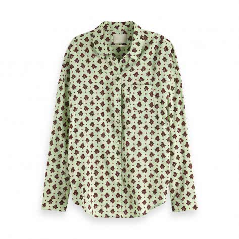 Maison Scotch Damen Langarmhemd Oversized Boxy Fit Shirt 149789