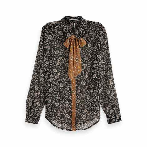 Maison Scotch Damen Bluse Mixed Print Shirt 149787