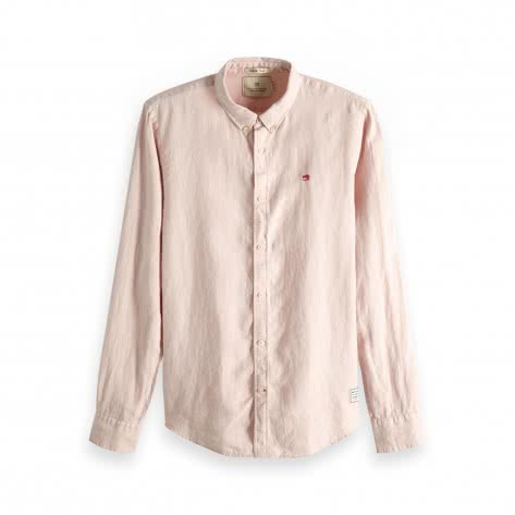 Scotch & Soda Herren Langarmhemd Garment Dyed Linen Shirt 148849