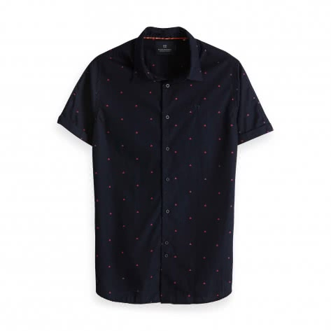 Scotch & Soda Herren Kurzarmhemd Printed Short Sleeve Shirt 148930