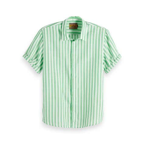 Scotch & Soda Herren Kurzarmhemd Classic Shortsleeve Shirt 148899