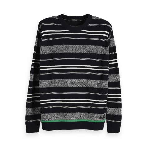 Scotch & Soda Herren Pullover Structured Stripe Pull 148827