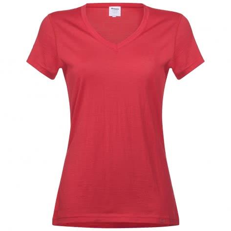 Bergans Damen T-Shirt Bloom Wool Lady 1945-3661 L Strawberry | L