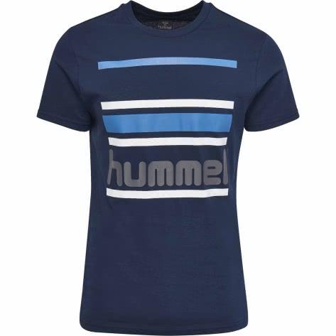Hummel Herren T-Shirt Barion T-Shirt S/S 201538-7459 M Dress Blue | M