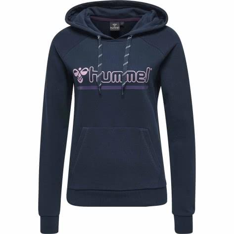 Hummel Damen Kapuzenpullover Leisurely Hoodie 201604-7459 XS Dress Blue | XS