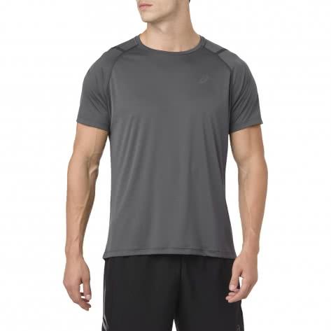 Asics Herren Laufshirt Icon SS Top 2011A259-020 S Dark Grey/Performance Black | S